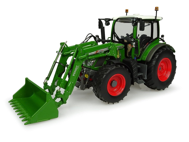 Universal Hobbies – uh4981 – uh4981 – Tractor Fendt 516 Vario con Cargador Frontal – Nuevo Verde fendt – Escala 1/32