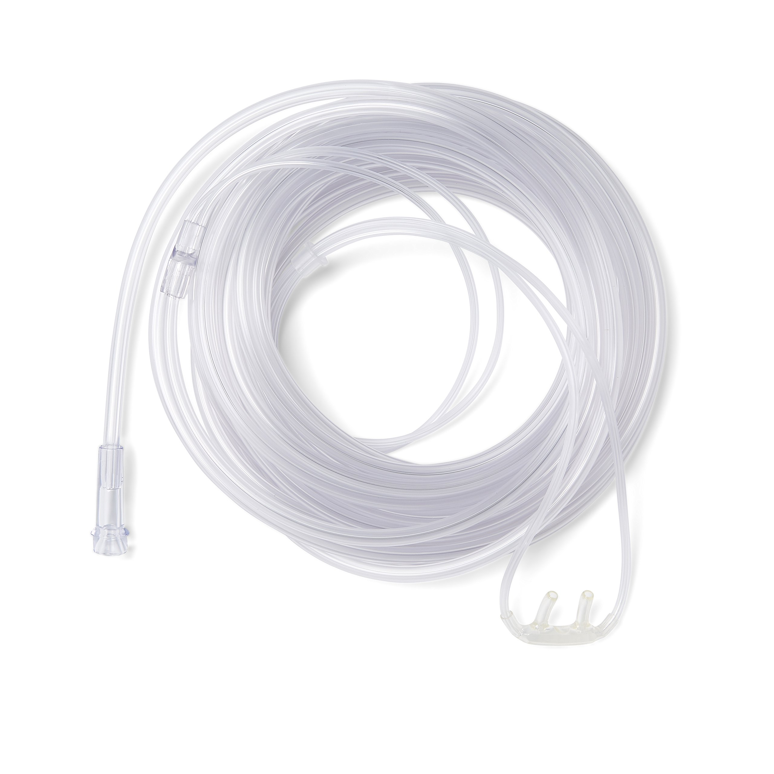 Medline Soft-Touch Nasal Oxygen Cannula, Standard Connector, 25-ft. Tubing Length, Adult Size, Pack of 25