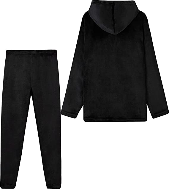 CityComfort Fleece Pyjamas For Kids Fluffy Boys and Girls Hooded PJs Age 7-14