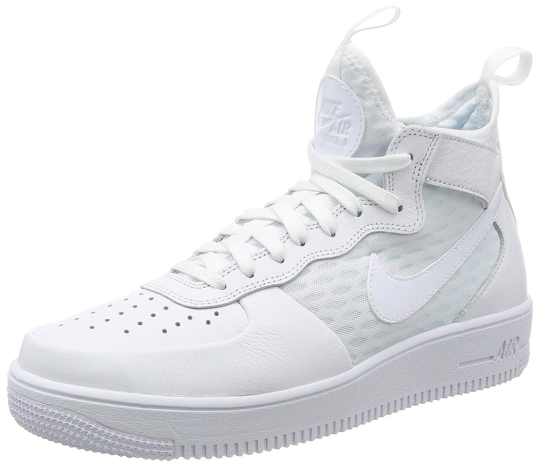 Nike, Uomo, Air Force 1 Ultraforce Mid, Pelle / Mesh, Sneakers Alte, Bianco