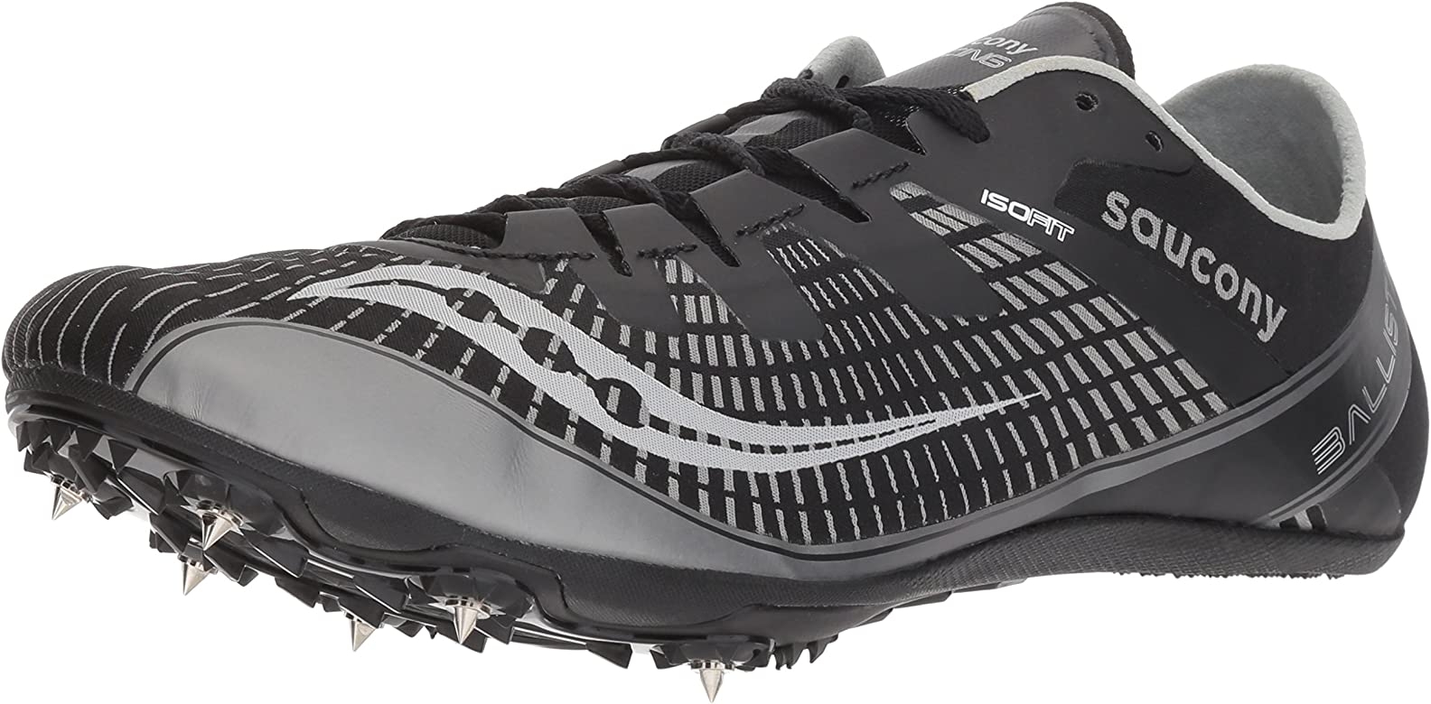 Saucony Mens Ballista 2 Track and Field Shoe, Black/Silver, 7.5 Medium US: Amazon.es: Zapatos y complementos