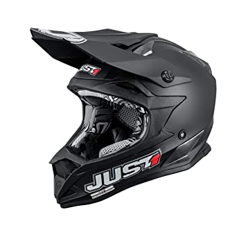 JUST1 casco J32 Pro Solid, color negro mate, tamaño 60-L