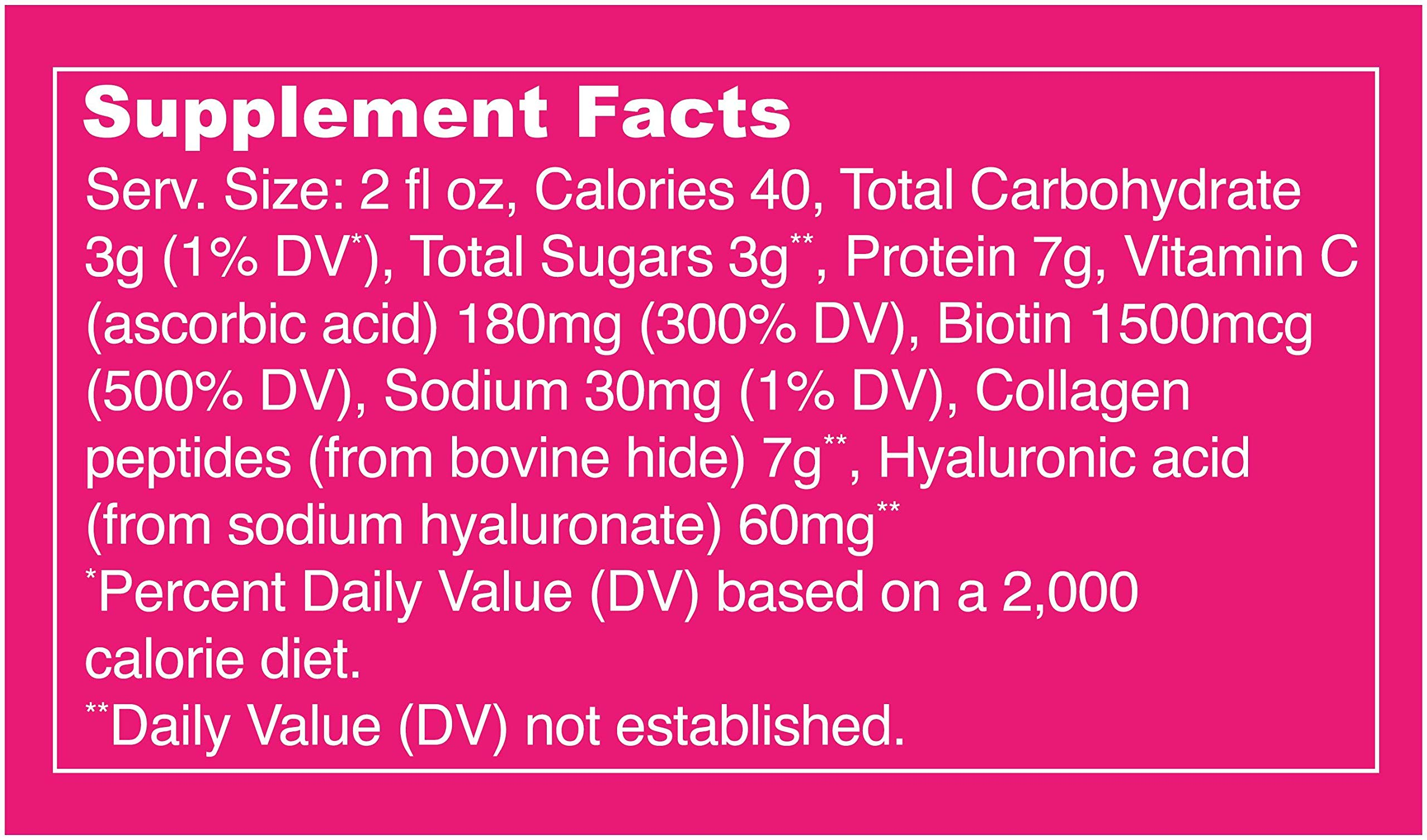 Vital Proteins Collagen Shot - Glow - 12 ct - Hyaluronic Acid, Biotin, and Vitamin C by Vital Proteins (Image #3)