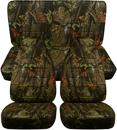 Full Set: Front /& Rear 21 Colors 1998 1999 2000 2001 2002 2003 2004 2005 Complete Bench Totally Covers Fits 1997-2006 Jeep Wrangler TJ Two-Tone Grill Seat Covers w Your Name//Text: Black /& Yellow