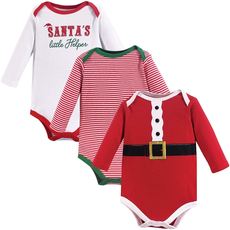 Little Treasure SHIRT ベビーボーイズ ユニセックスベビー B07G3KMCJC Santa's Helper 3pk Long Sleeve 3-6 Months (6M) 3-6 Months (6M)|Santa's Helper 3pk Long Sleeve
