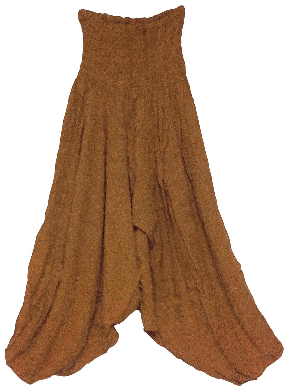 Bhakti Harem Pants Boho Yoga Wear with Elastic Top and Elastic Bottom