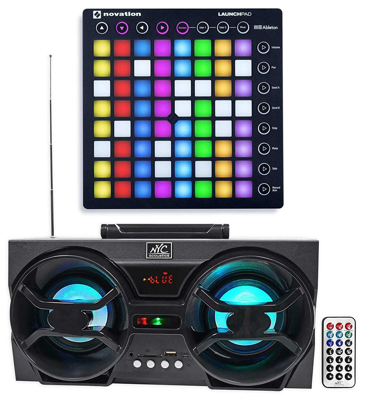 Novation LAUNCHPAD S MK2 MKII MIDI USB RGB Controller Pad+Free Boombox Speaker ! LAUNCHPAD S MK2+NPB3