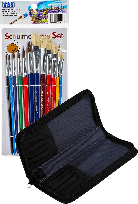 TSI 49011 Schulmalpinsel Set 12tlg Verschiedene Größen
