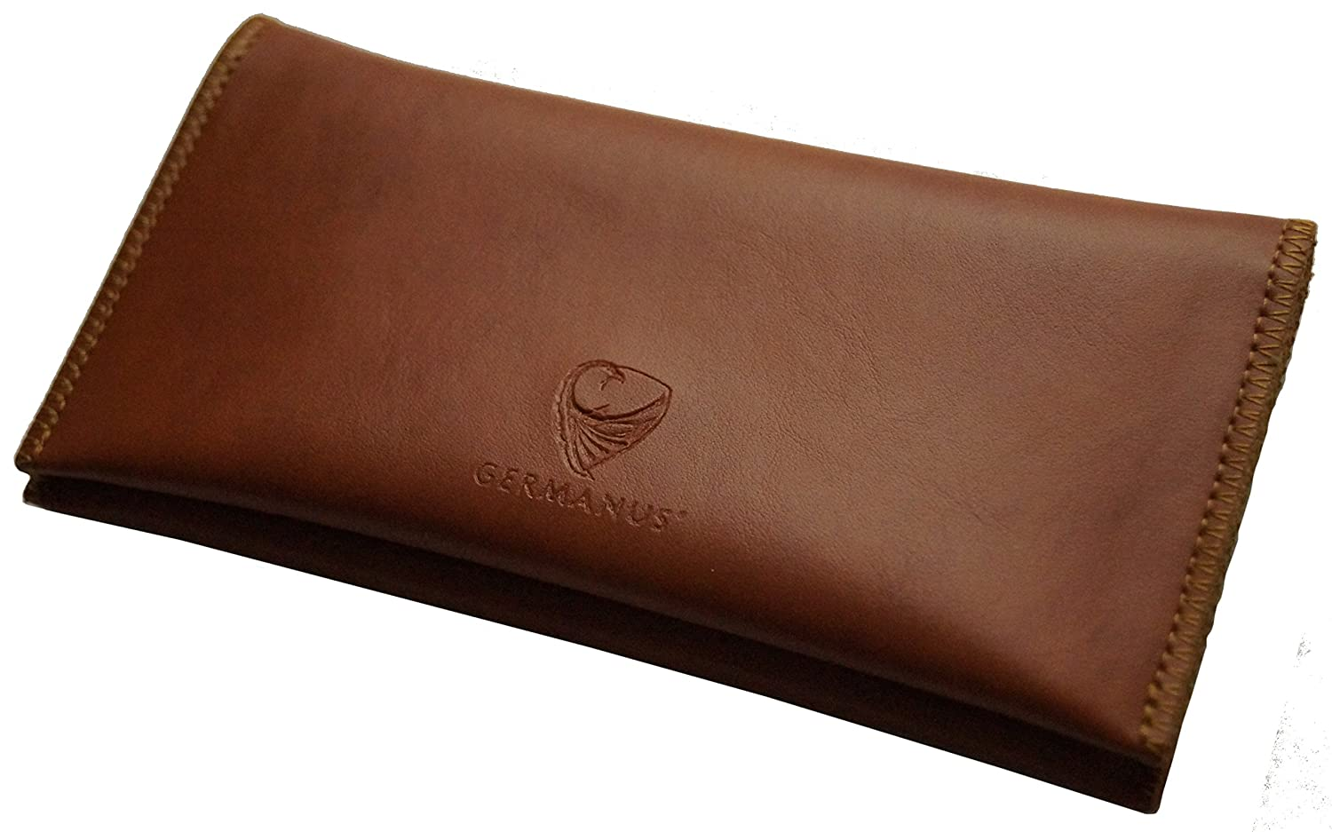 GERMANUS Tobacco Pouch from Artleather, Leather free - Made in EU - Fuscus 3986