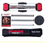 """Bullworker 20"""" Steel Bow - Full Body Workout - Portable Home Gym Isometric Exercise Equipment for Fast Strength Training Gains. Cross Training Fitness; Chest, Back, Arms, and Abs Exercise Machine"""