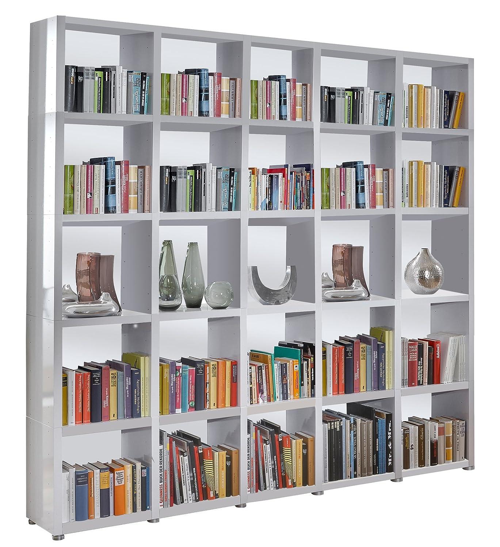 Bücherregal Raumteiler READY 55R Alpineweiß mit Rückwand in ...