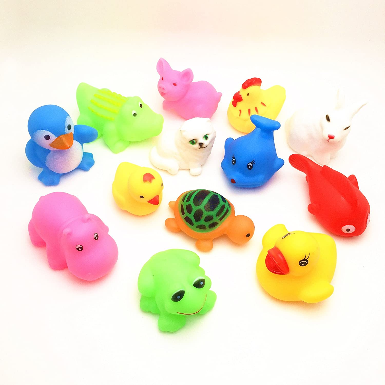 Toyofmine 13 pcs/Lot Mixed Different Animal Bath Toys(Random colors and patterns) .
