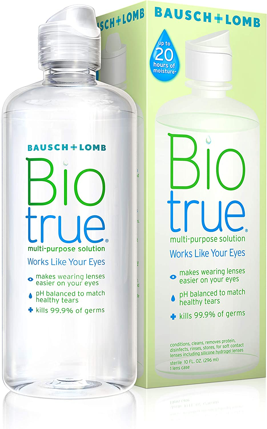Biotrue Contact Lens Solution for Soft Contact Lenses Multi-Purpose 10 Fl Oz (Pack of 1)