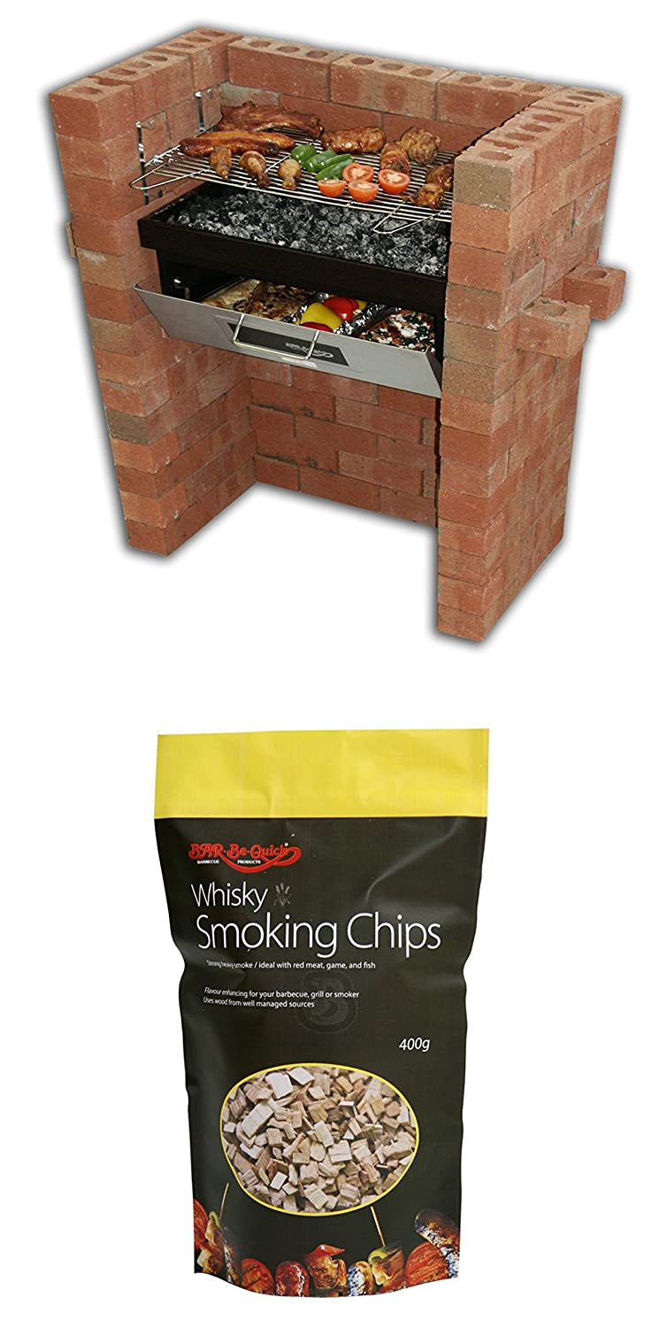 Holland Plastics Original Brand The Original Bar Be Quick Build In Grill & Bake + Pack Of Whisky Smoking Chips