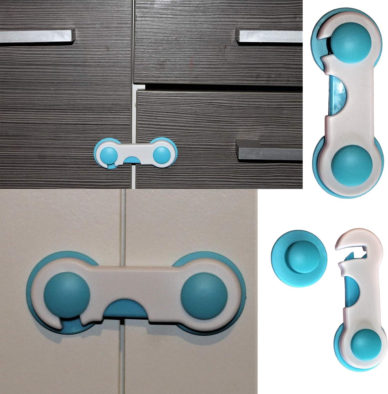 armarios, puertas correderas 8 unidades bloqueo de seguridad para beb/és para armarios puertas frigor/ífico Cerradura para puerta de armario bloqueo de seguridad para ni/ños cajones