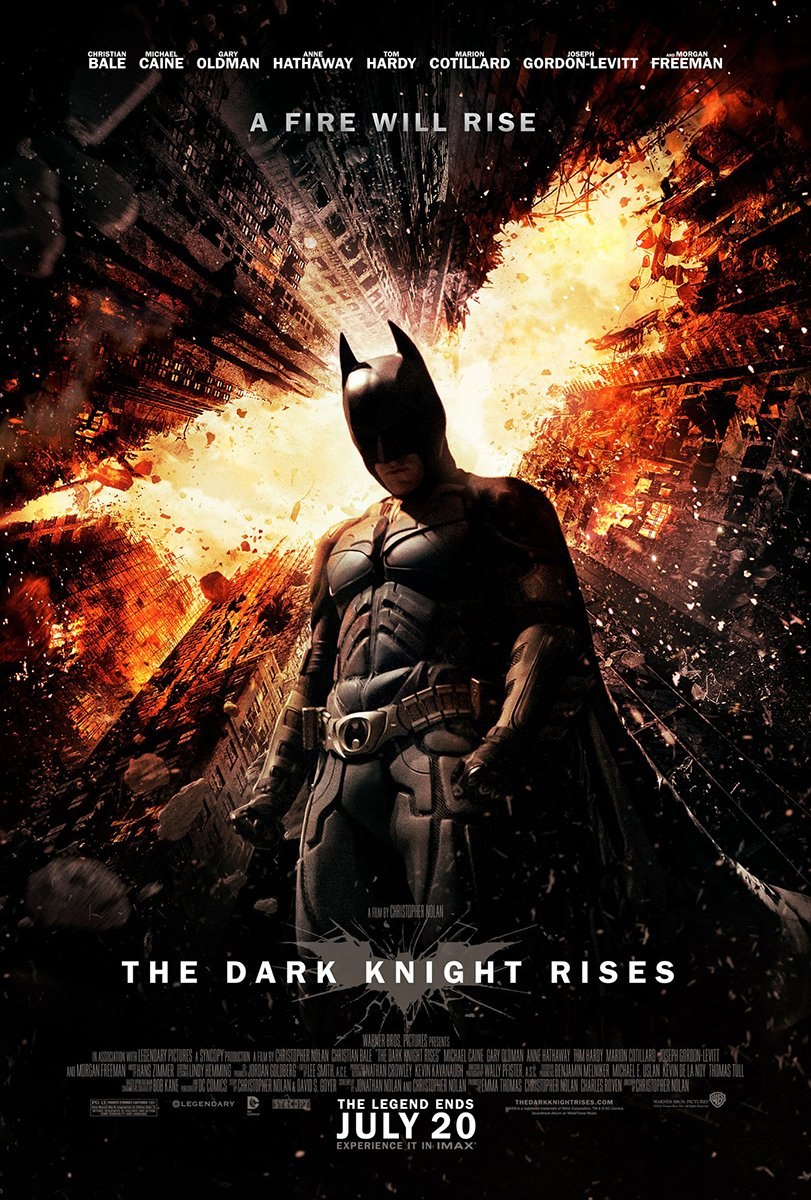 "Batman Movie Poster 24 X 36"" the Dark Knight Rises"