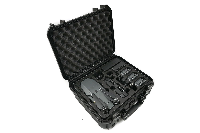 TOMcase Travel Edition Profi Transportkoffer Farbe schwarz für DJI Mavic 1 Pro/Platinum mit Platz für 5 Akku und viel Zubehör, wasserdichter Outdoor Case IP67 (schwarz)