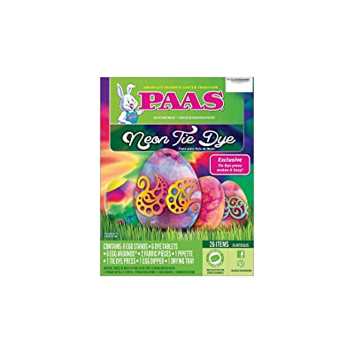 Paas Neon Tie Dye Fun Expressions Easter Egg Decorating Kit: Toys & Games