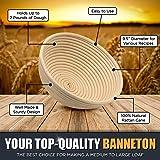 Chefast Banneton Proofing Basket Set: Combo Kit