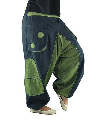 c820cfe979 Pantalon bouffant de haute qualité pour hommes et femmes (taille unique)  comme vêtement ethnique