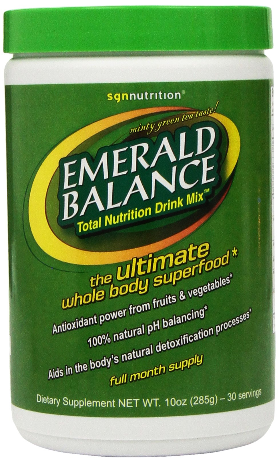 Spirit Garden Nutrition Emerald Balance Total Nutrition Drink Mix, 10-Ounce Canister