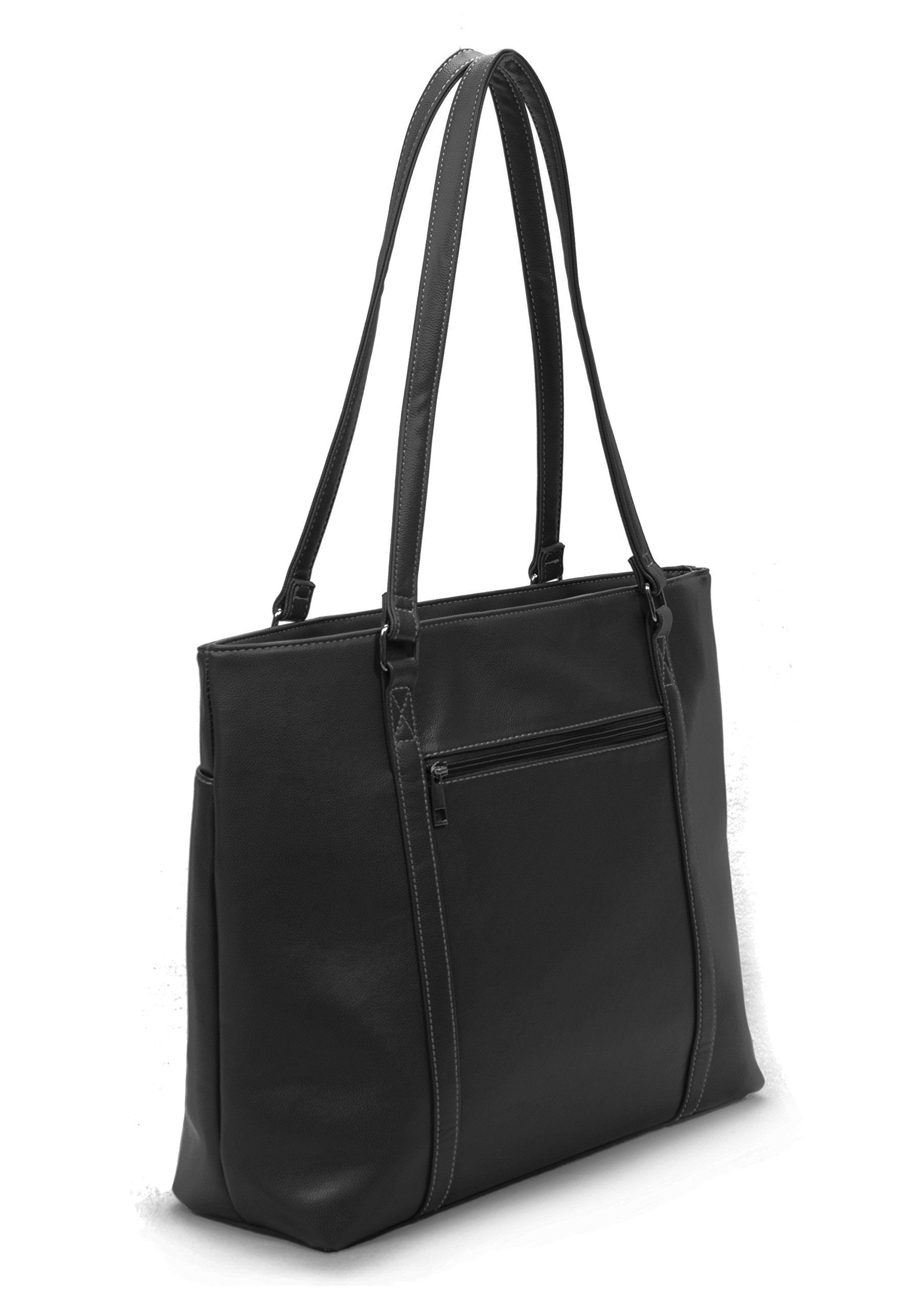 Overbrooke Classic Womens Tote Bag for Laptops  up to 15.6 Inches, Black by Overbrooke (Image #5)