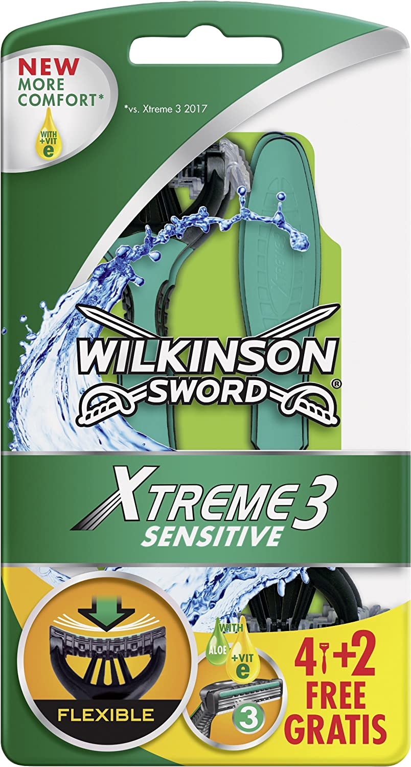 Wilkinson Sword Xtreme 3 Sensitive 4 + 2 7001708D