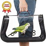 Colorday Lightweight Bird Carrier, Bird Travel cage Parrot (Medium 16 x 9 x 11, Red)