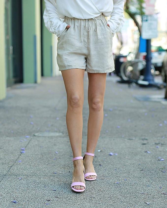 Women Shorts finest European linen