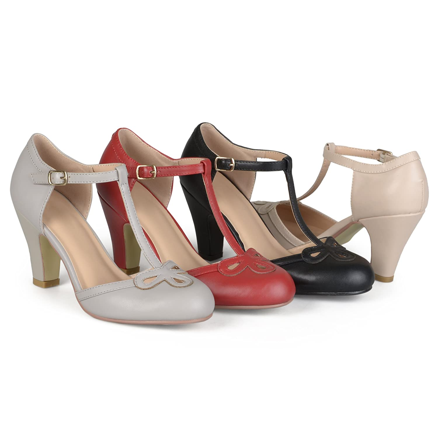 Vintage Style Shoes, Vintage Inspired Shoes Brinley Co Womens Patsie Pump $35.99 AT vintagedancer.com