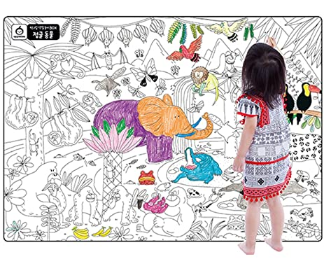 A Set Of 4 Giant Wall Size Coloring Posters For Kids Book Decals
