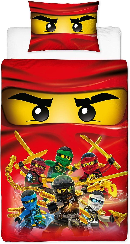 Lego Ninjago Film Simple Housse De Couette Et Taie D/'Oreiller Enfants Literie