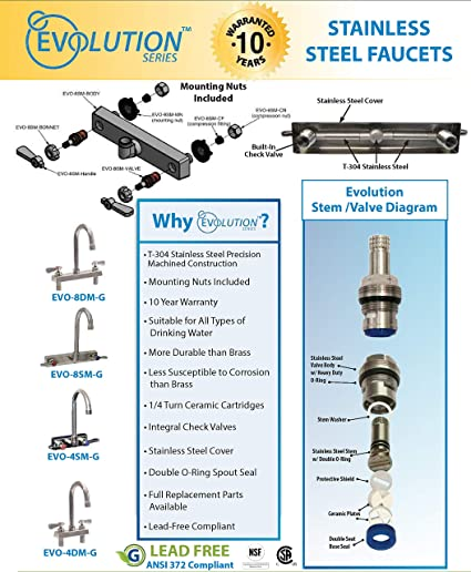 BK Resources EVO-SPT-18 Evolution Series Stainless Steel 18 Swing Spout