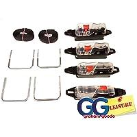 Thule - Kit de fixation d'étriers en U pour coffre de toit - Connexion facile - 80mm de large