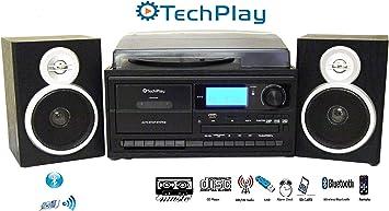 TechPlay ODC128BT - Tocadiscos (3 velocidades, con Grabador ...