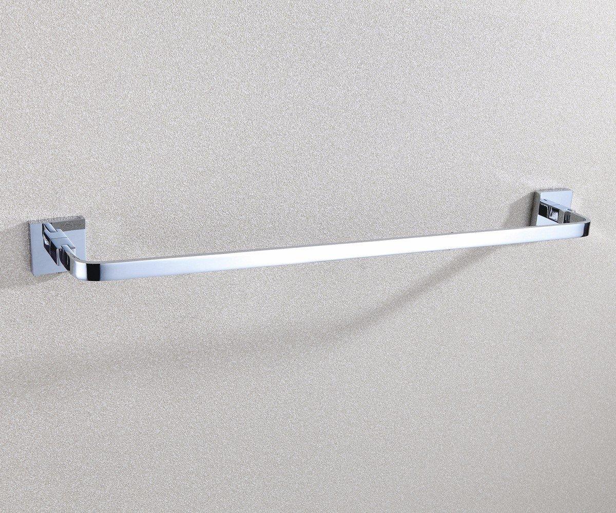 Accesorios de bantilde;o Yomiokla - Toalla de metal metal metal para cocina, inodoro, balcoacute;n y bantilde;oEn 7903, el cobre toalla palanca individual en la perforacioacute;n de cobre 62,4  7,6  4,8 cm f56767