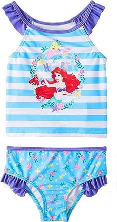 Disney Store Princess Ariel The Little Mermaid Swimsuit Deluxe 2-Piece Swimwear