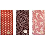 Made in Japan Komon Tenugui Towel 3 type set(Flax Leaf, Sakura, Rabbit)