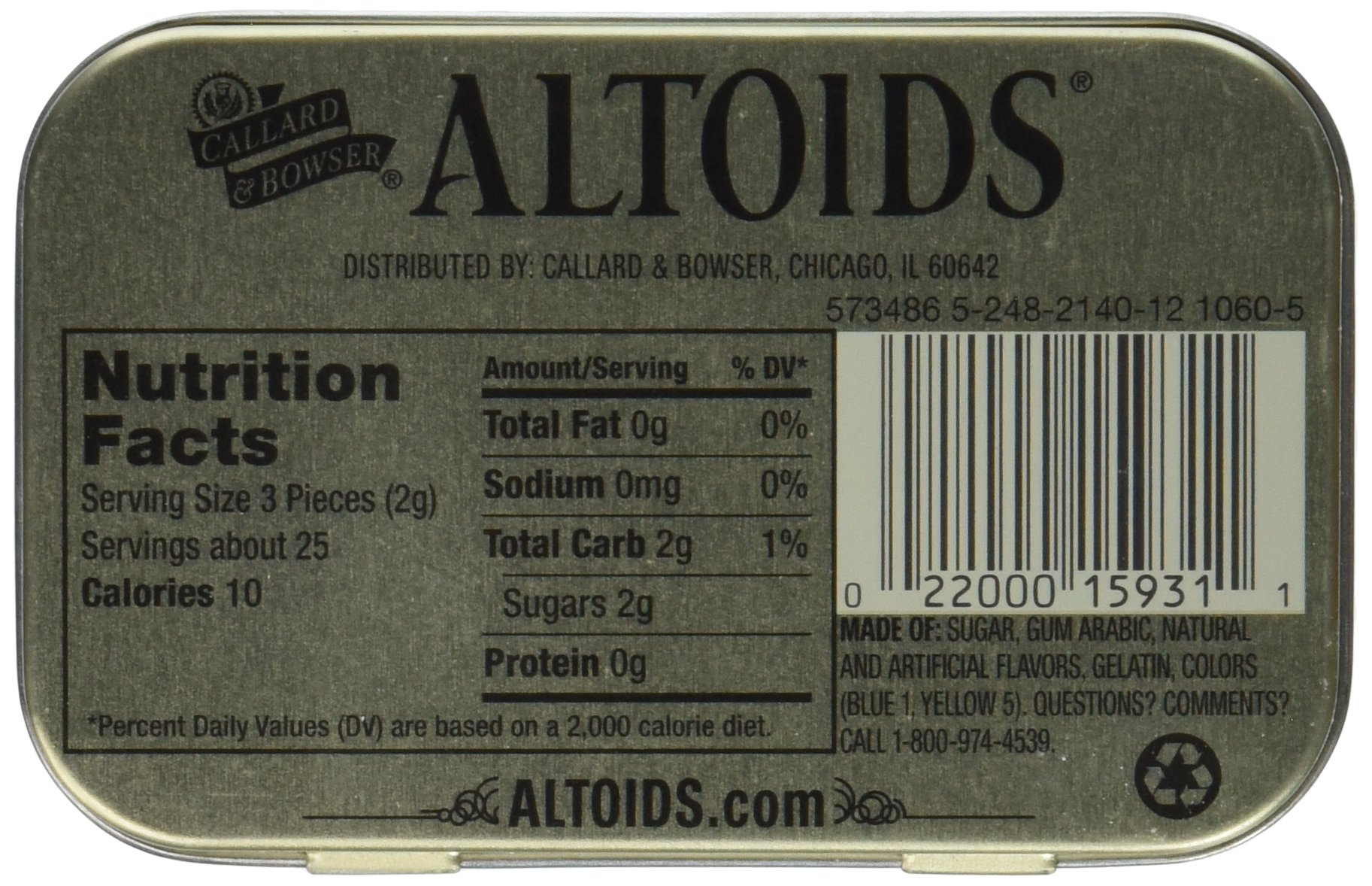 Altoids Curiously Strong Mints - Spearmint 1.76 oz (Pack of 6) by Altoids (Image #3)
