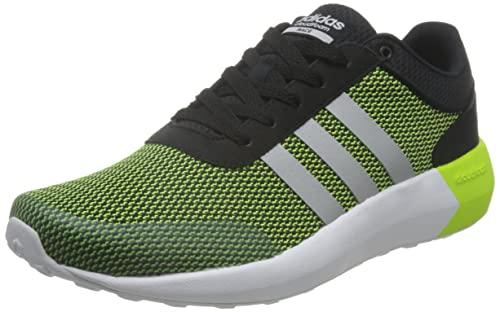 adidas cloudfoam black and green