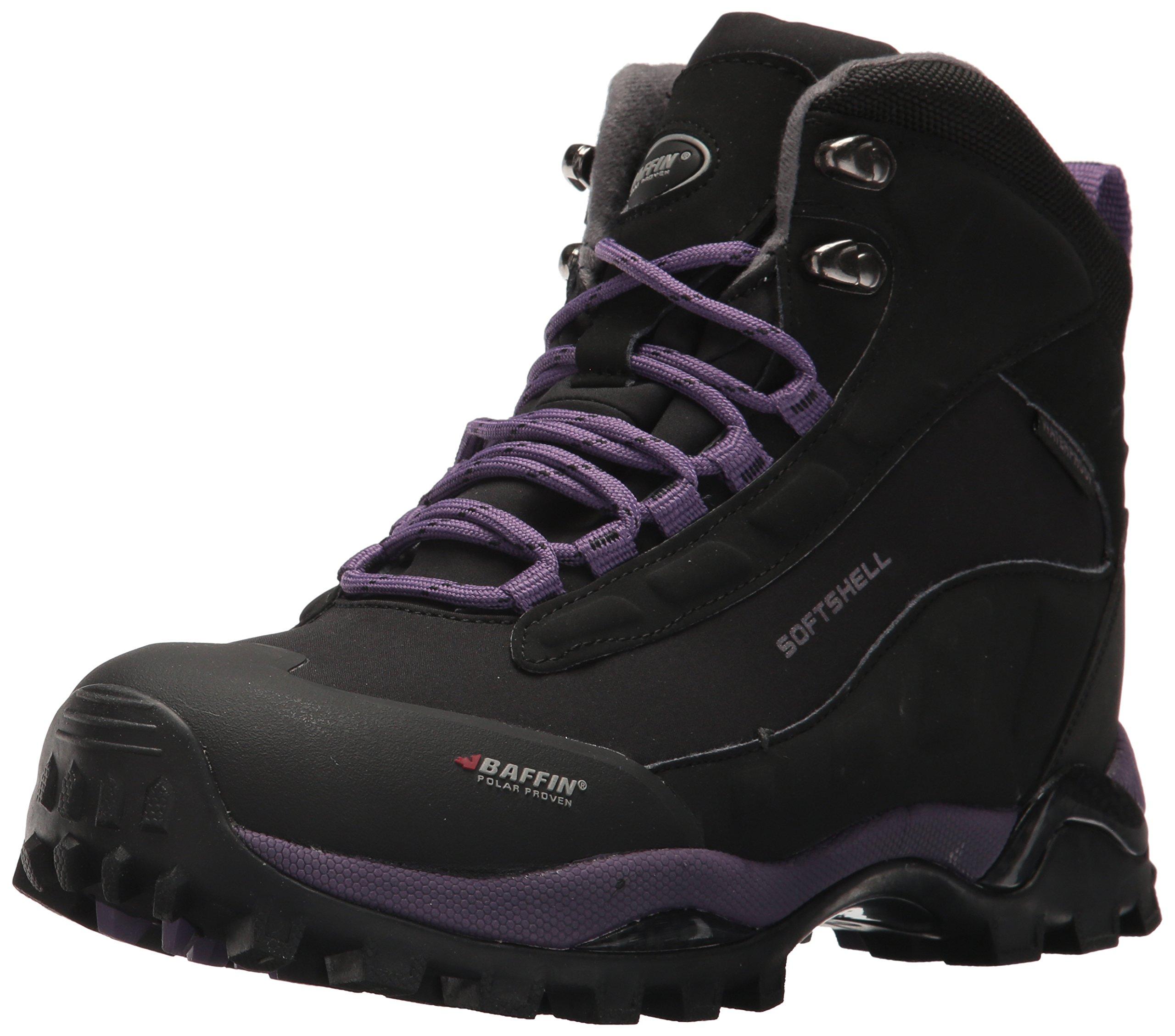 Baffin Women's Hike Hiking Boot,Black/Plum,10 M US