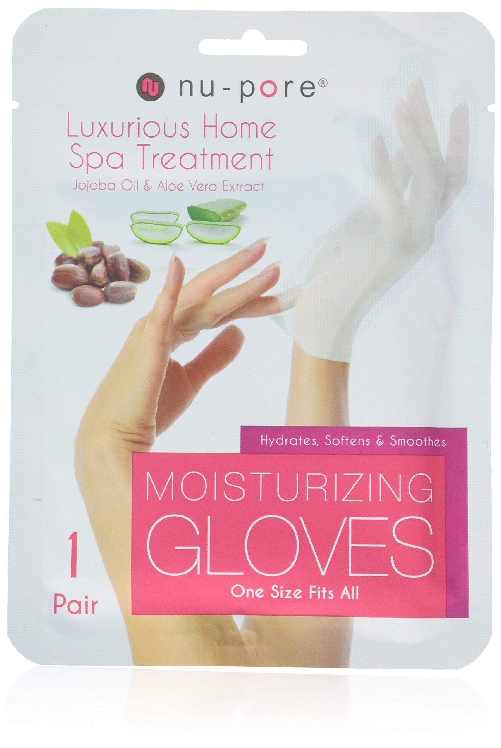 Nu-Pore Moisturizing Gloves, Case of 24