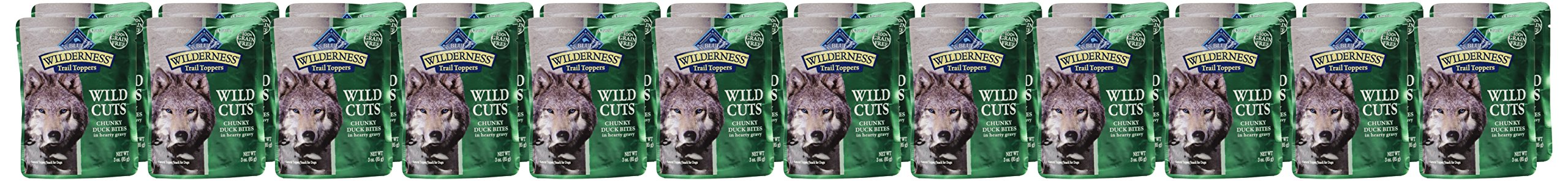 Blue Buffalo Wilderness Trail Toppers Chunky Duck Bites Dog Food, 24 By 3 Oz. by Blue Buffalo