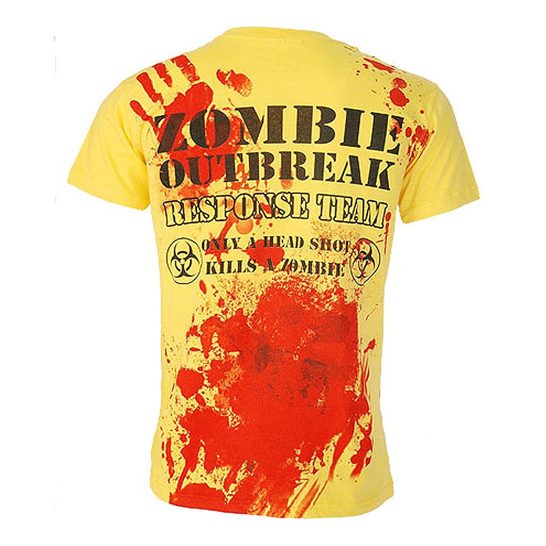 Amazon.com: Darkside Clothing UK Mens Zombie Outbreak Response Team T-Shirt: Clothing