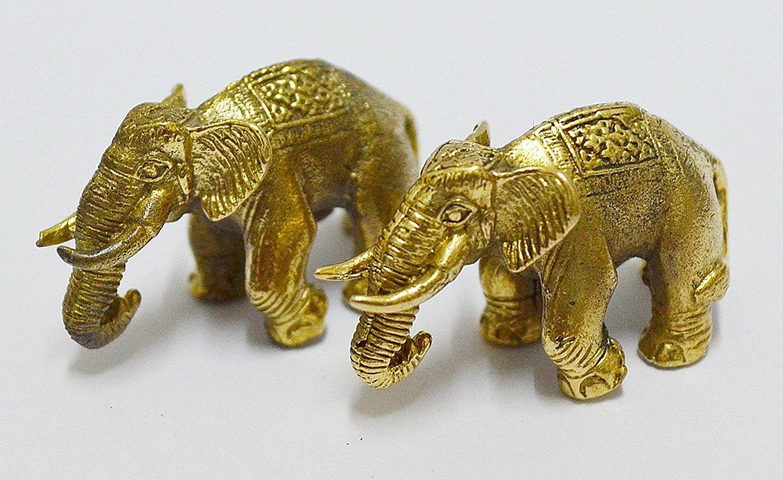 Thai Buddha Thai Amulets DUO MAGIC WAR ELEPHANT THAI MINI AMULET RICH THAILAND TALISMAN HOT GIFT LUCKY GAMBLE