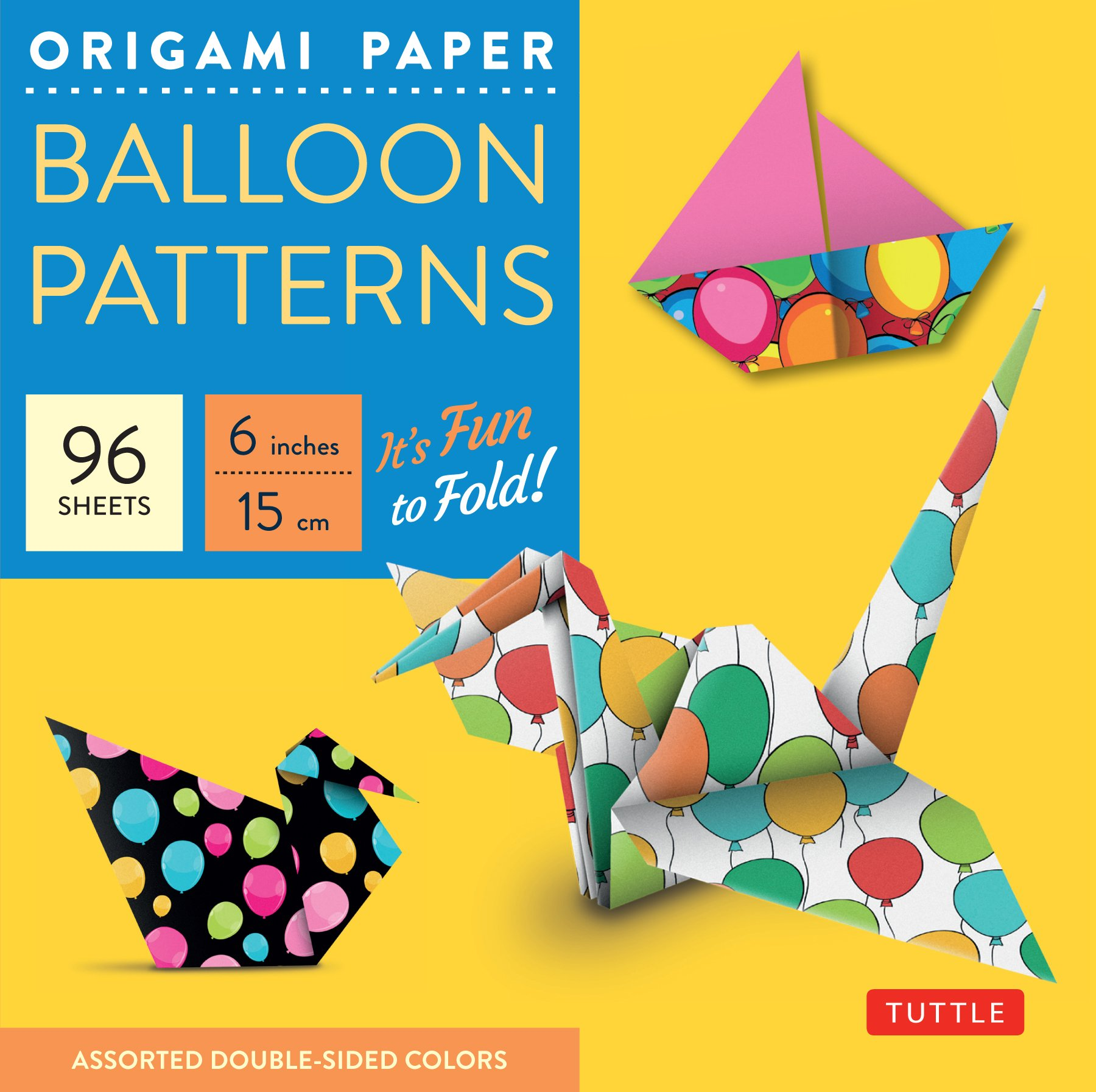 Amazon Origami Paper Ballon Patterns 6 96 Sheets Party
