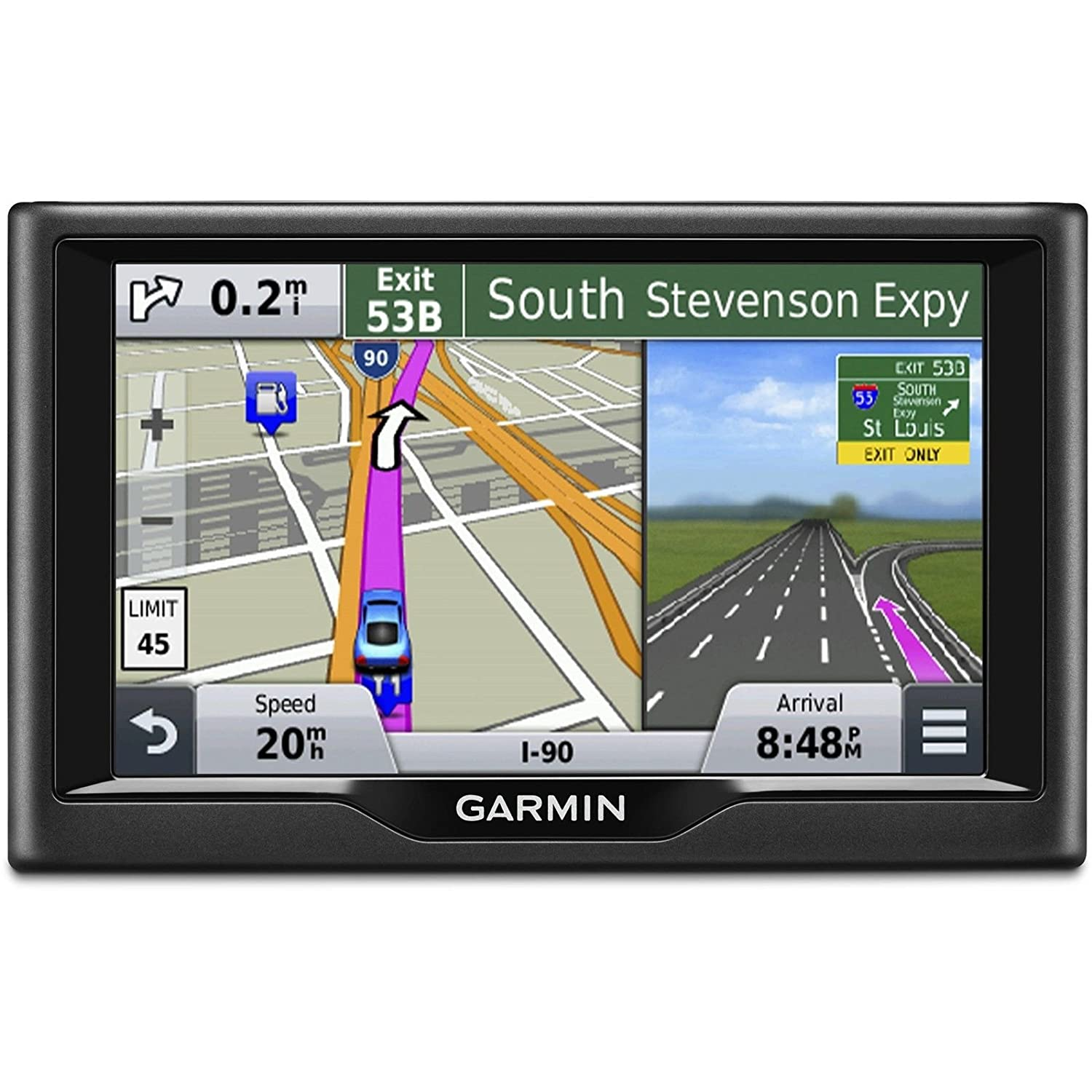 Garmin Nuvi 58lm 5 Inch Gps Navigator Us And Canada Maps Arb Intensity Led Light Wiring Kit Arb3500520 Certified Refurbished