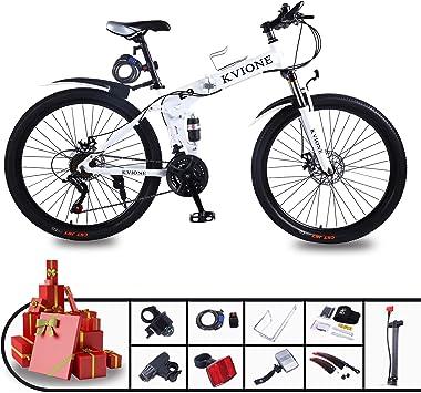 KVIONE E9 Bicicleta montaña de 21 velocidades para Hombres Mujeres ...
