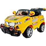 Toy House Officially Licensed Thunder Jeep 6V Rechargeable Battery Operated Ride on SUV for Kids (2 to 8), Yellow