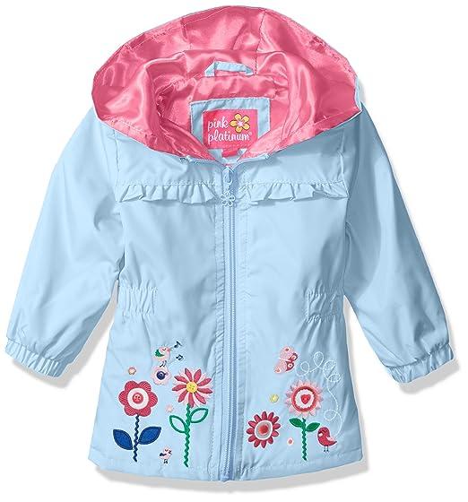 8d0db7d77d Pink Platinum Baby Girls' Garden Applique Windbreaker
